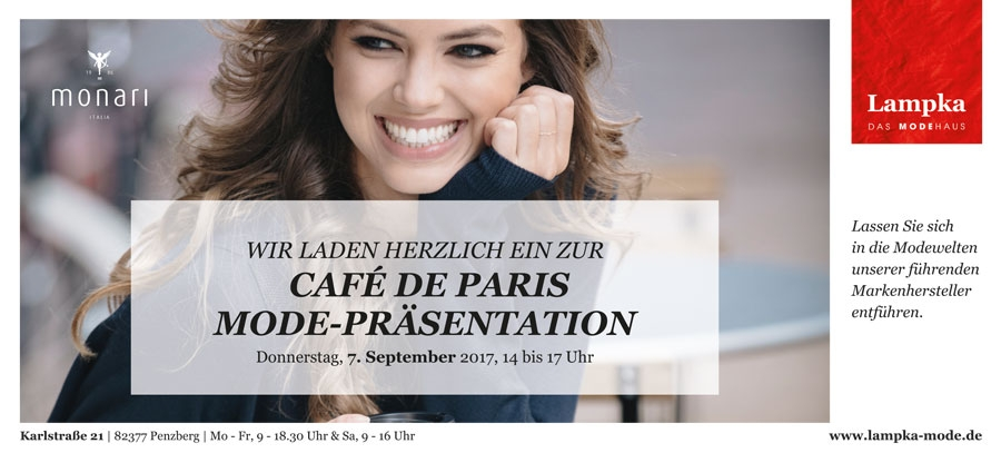 CAFÉ DE PARIS MODE-PRÄSENTATION